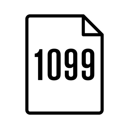 1099 IRS tax form document line art vector icon for finance apps and websites