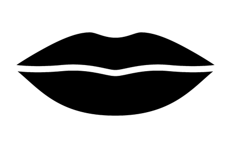 Womans lips for kissing  kiss flat vector icon for apps and websites