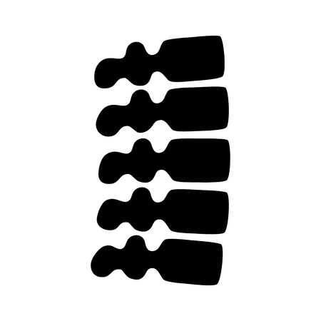 Human backbone or spine flat vector icon for medical apps and websites