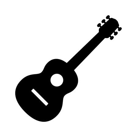 tenor: Acoustic guitar musical instrument flat vector icon for music apps and websites