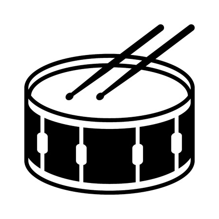pictogram, vlak, vector, geïsoleerde, app, overzicht, website, illustratie, clipart, tekening, lijn, orkest, orkest, muziek, geluid, percussie, symbool, instrumentaal, digitaal, muzikaal, onderwijs, instrument, snare drum, snaredrum, bederven