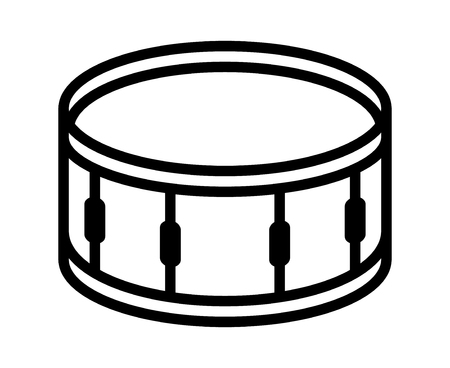 corps: Snare drum or side drum musical instrument line art vector icon for music apps and websites