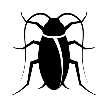 extermination: Pest or roach infestation flat vector icon for insect apps and websites Illustration