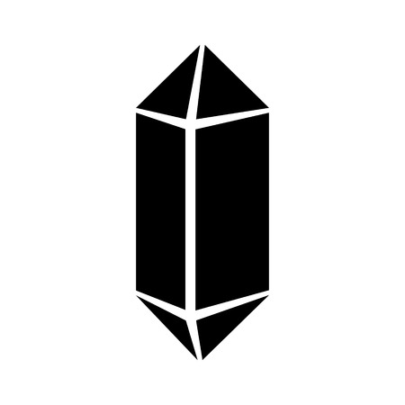 crystalline: Quartz crystal or crystalline solid flat vector icon for apps and websites Illustration