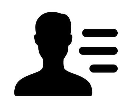 User, profile or account menu flat vector icon for apps and websites