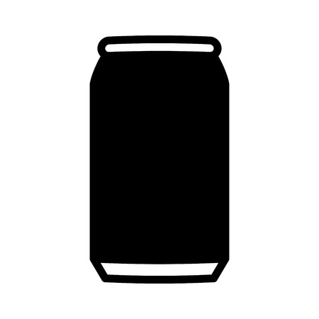 softdrink: Aluminum soda or beer can flat vector icon for apps and websites