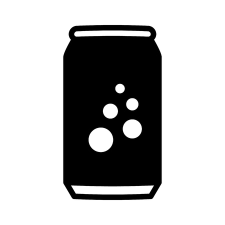 softdrink: Soda pop  soft drink or beer can flat vector icon for apps and websites
