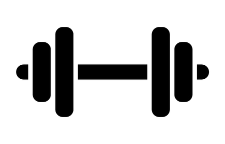 Dumbbell or dumbells weight training equipment flat vector icon for exercise apps and websites 向量圖像