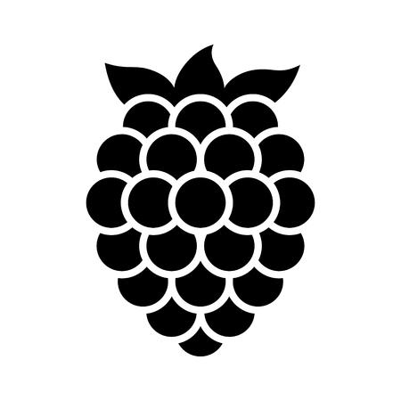 Blackberry-fruit of braambessen vlak vectorpictogram voor voedsel apps en websites Stock Illustratie