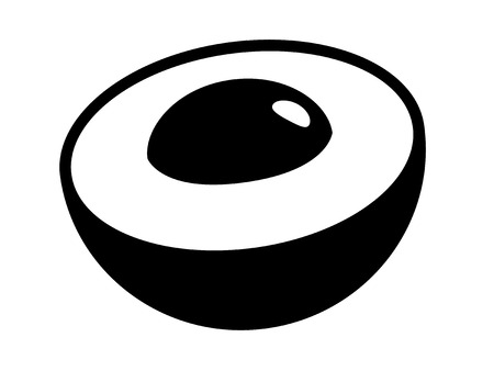 Longan or dragon eye fruit with seed or pit flat vector icon for food apps and websites