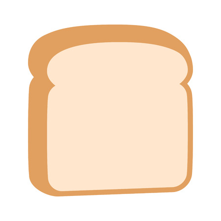 A slice of sliced white bread flat color vector icon for food apps and websites Ilustrace