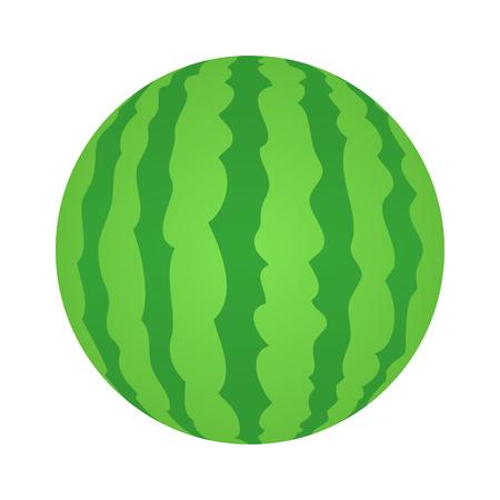 スイカを丸ごとフルーツ フラット食品アプリとウェブサイトの色ベクトルのアイコン  イラスト・ベクター素材