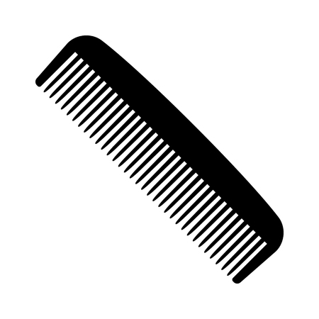 personal grooming: A plastic comb for styling and combing hair flat vector icon for apps and websites