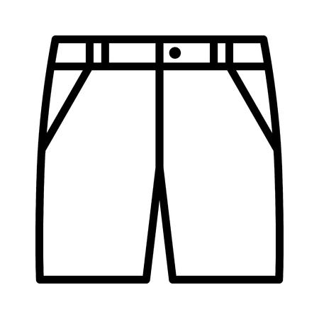 Bermuda's, khaki-shorts of jean-cut-offs lijntekeningen vector pictogram voor mode-apps en websites