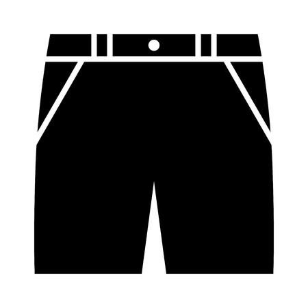 Bermuda shorts, khaki shorts or jean cut-offs flat vector icon for fashion apps and websites Çizim