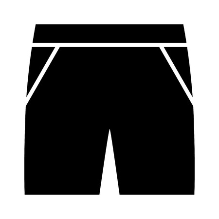 Mens gym shorts, trunks or baggies flat vector icon for fashion apps and websites