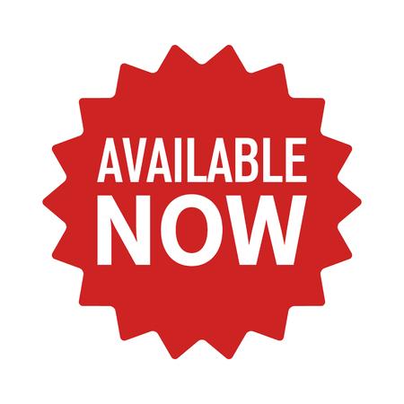 Disponible maintenant étiquette, insigne, sceller ou éclater l'icône de vecteur plat pour les applications et les sites Web Banque d'images - 84363440