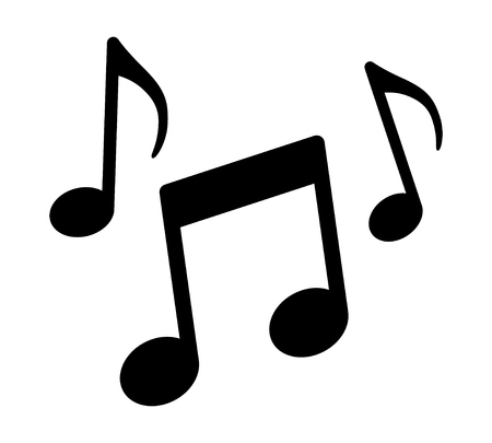 Music notes, song, melody or tune flat vector icon for musical apps and websites