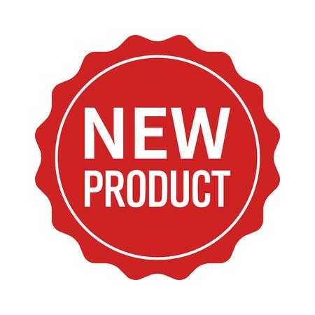 Nieuw productetiket, verbinding, sticker of burst vlak vectorpictogram voor websites en verpakking Stock Illustratie