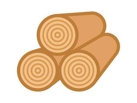 アンバーは薪の山記録アプリとウェブサイトのフラット ベクトル カラーのアイコン