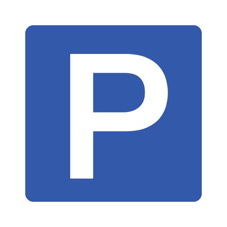 Parkeren of park ondertekenen voor auto's / voertuigen met hoofd P platte vector pictogram voor apps en websites