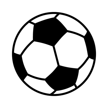 Soccer ball or football flat vector icon for sports apps and websites 向量圖像