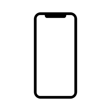 Next generation mobile phone  smartphone flat vector icon for apps and websites.