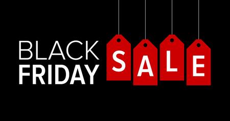Black Friday-verkoop promotie marketing banner