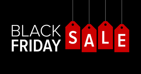 Black Friday sale promotional marketing banner