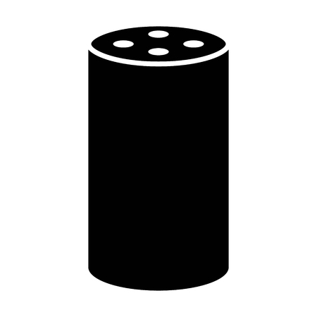 Medium size smart speaker virtual assistant flat vector icon for apps and websites