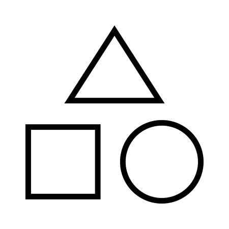 教育アプリとウェブサイトの幾何学的図形のベクトルのアイコン