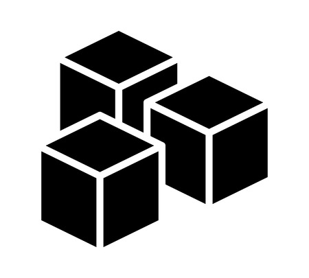 sugar cube: Sugar cubes or sugar substitute sweetener flat vector icon for food apps and websites Illustration