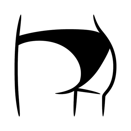 비키니 아래 또는 팬티  속옷 속옷 패션 애플 리케이션 및 웹 사이트 플랫 벡터 아이콘.