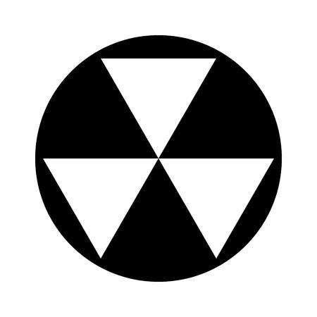 Nucleaire fallout onderdak teken platte vector pictogram voor apps en websites