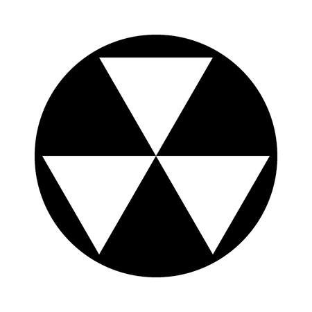 Nuclear fallout shelter sign flat vector icon for apps and websites