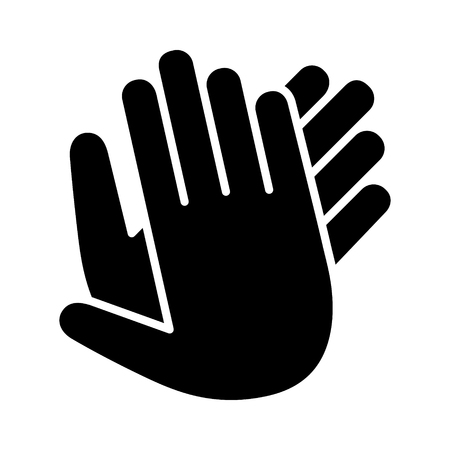 Hands clapping, applauding or ovation applause gesture flat icon for apps and websites Ilustração