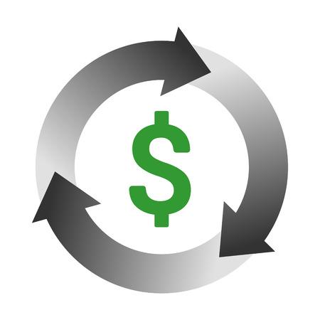 Automatyczna płatność rachunków lub ikona koloru wektorów zarządzania cyklem przychodów dla aplikacji i stron internetowych.