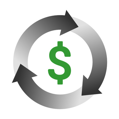 Automatic bill payment or revenue cycle management color vector icon for apps and websites.