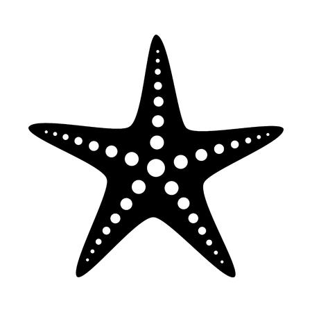 Flache Vektorikone des Seestern- oder Seesternfischmeeresflora und -fauna für apps und Website Vektorgrafik