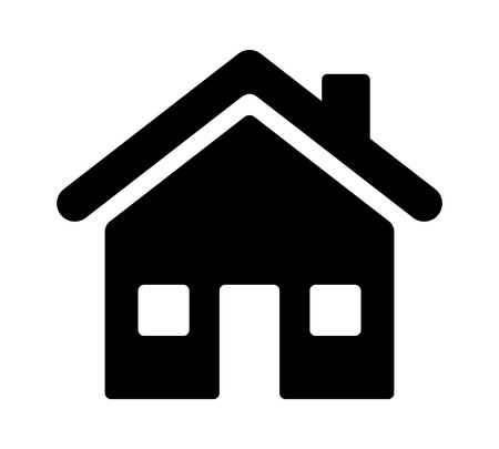 House, home residence address or real estate flat vector icon for apps and websites Illustration