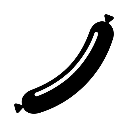 Sausage meat link or wiener dog flat vector icon for food apps and websites