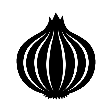 Bulb onion or common onion vegetable flat vector icon for food apps and websites Standard-Bild - 101692775