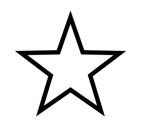 Star shape, star rating or favorite line art icon for product apps and websites