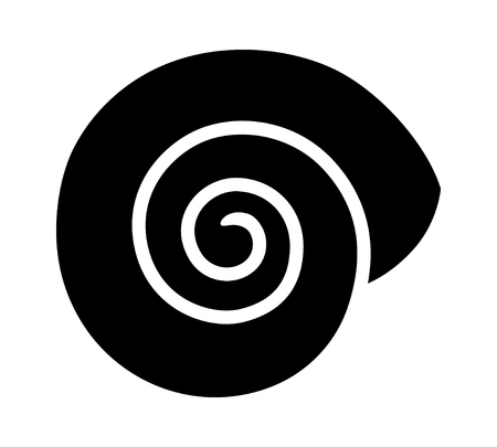 Empty land snail shell or gastropod shell flat vector icon for wildlife apps and websites Illustration