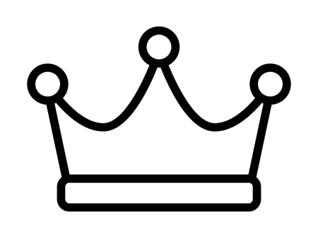 Crown of the king, ruler or crown of royalty line art vector icon for apps and websites