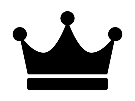 Crown of the king, ruler or crown of royalty flat vector icon for apps and websites