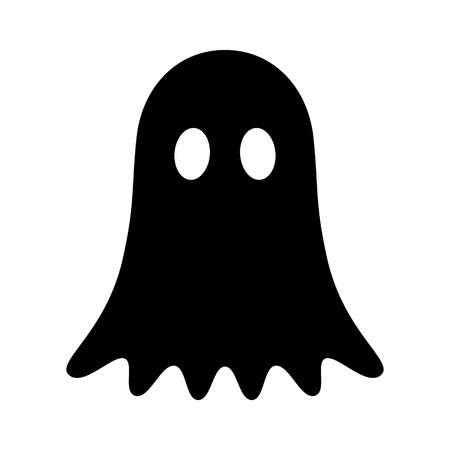 Ghost, phantom or apparition haunting Halloween flat vector icon for holiday apps and websites