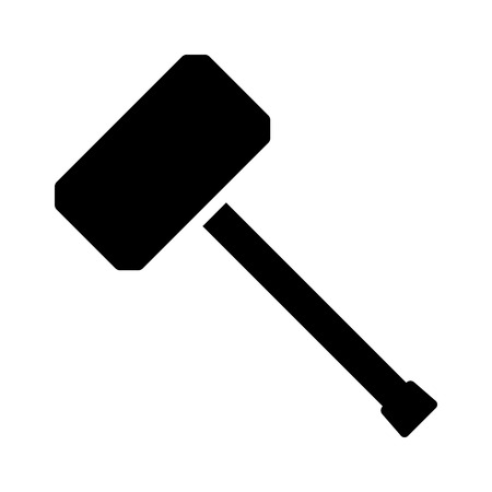 Hammer or mallet for mauling flat vector icon for apps and websites Standard-Bild - 105980450