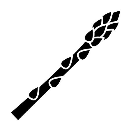 Garden asparagus or sparrow grass flat vector icon for vegetable apps and websites Standard-Bild - 104999727