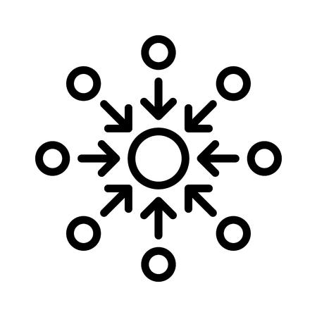 Squadra di persone che attaccano un problema o giocatori che attaccano un'icona vettoriale di arte al tratto nemica per app e giochi